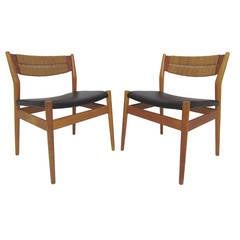 Pair of Danish Occasional Side Chairs by Arne Vodder for Sibast
