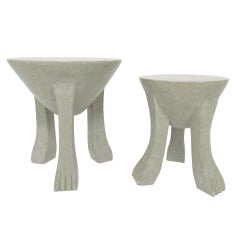 African Stools or Occasional Tables in the Style of John Dickinson, circa 1970s