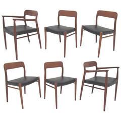 Minimalist Teak Dining Room Furnishings Set