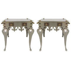 Pair of 19th C. English Footman Side Tables or Benches