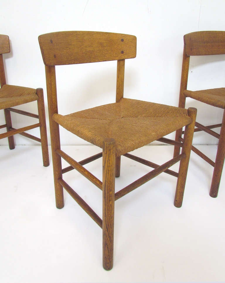 set of six danish shaker dining chairs by borge mogensen at 1stdibs