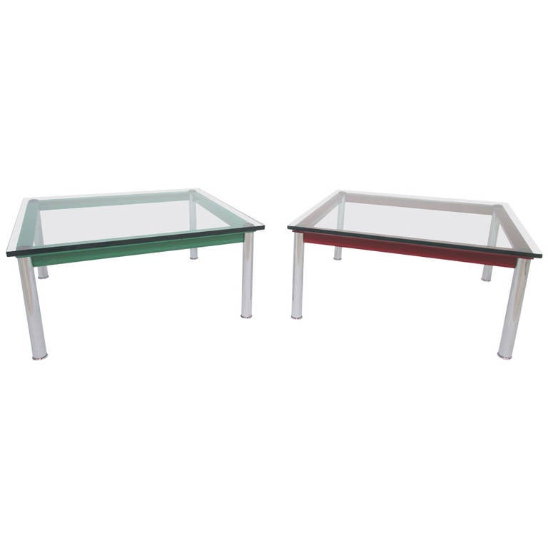 pair of end tables by le corbusier for cassina at 1stdibs. Black Bedroom Furniture Sets. Home Design Ideas