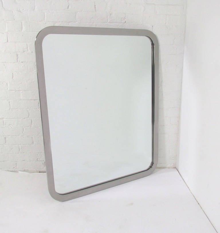 Chrome Wall Mirror chrome wall mirrormilo baughman for thayer coggin at 1stdibs