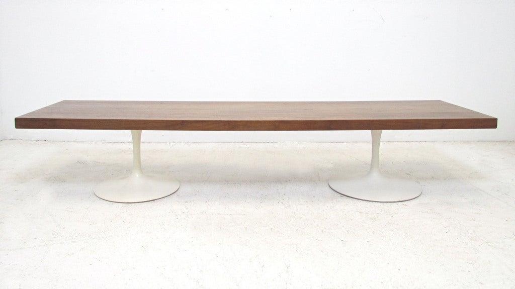 Amazing Custom Bench Or Coffee Table With Knoll Saarinen Tulip Base Legs Uwap Interior Chair Design Uwaporg