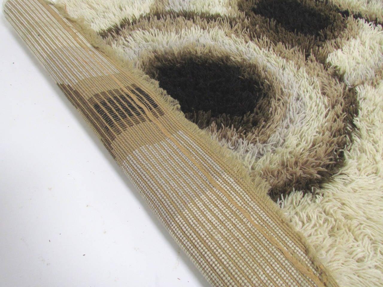 Danish Ege Rya Area Rug With Organic Abstract Design Ca