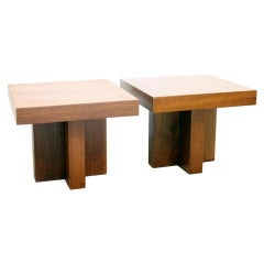 Pair of End Tables by Milo Baughman