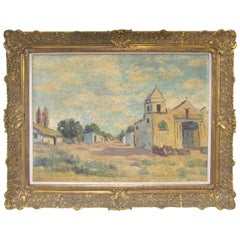 Mid-Century Impressionist Style Oil Painting by Argentinian Carlos Brondo