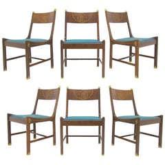 Rare Set of Six Danish Modern Rosewood Dining Chairs by Kofod-Larsen