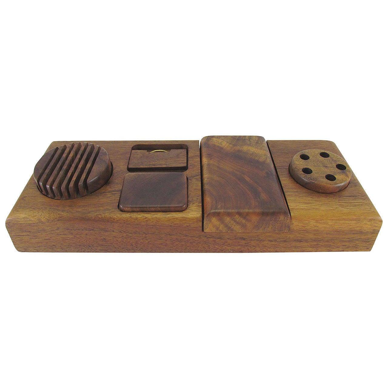 Modernist craftsman handmade desk organizer by michael - Decorative desk organizers ...