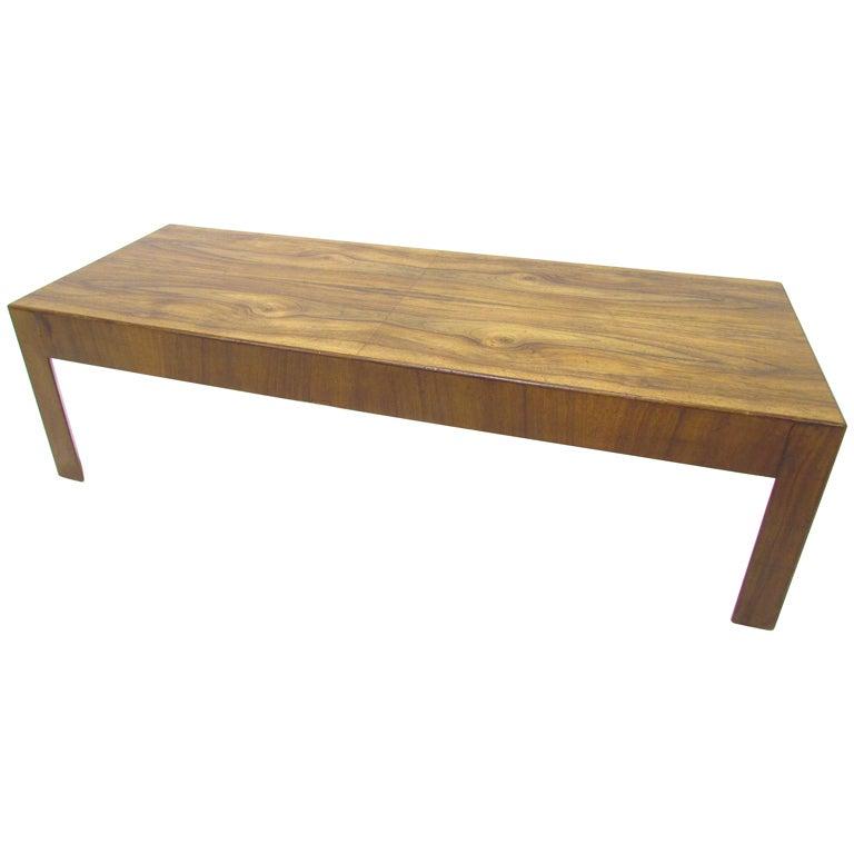 Burl Coffee Table Mid Century: Mid-Century Modern Italian Olive Burl Wood Coffee Table At