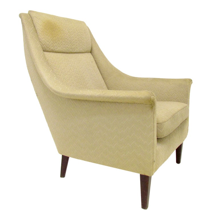 Danish Modern High Back Lounge Chair By G Thams At 1stdibs