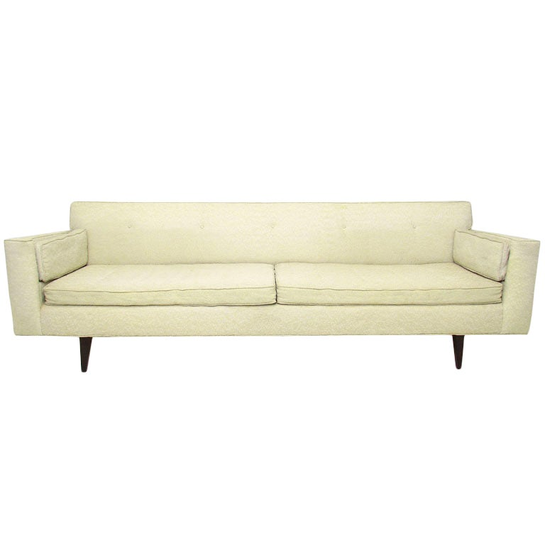 Exceptional Mid Century Modern Sleek Eight Foot Sofa At