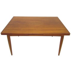 Danish Teak Extendable Dining Table ca. 1960s