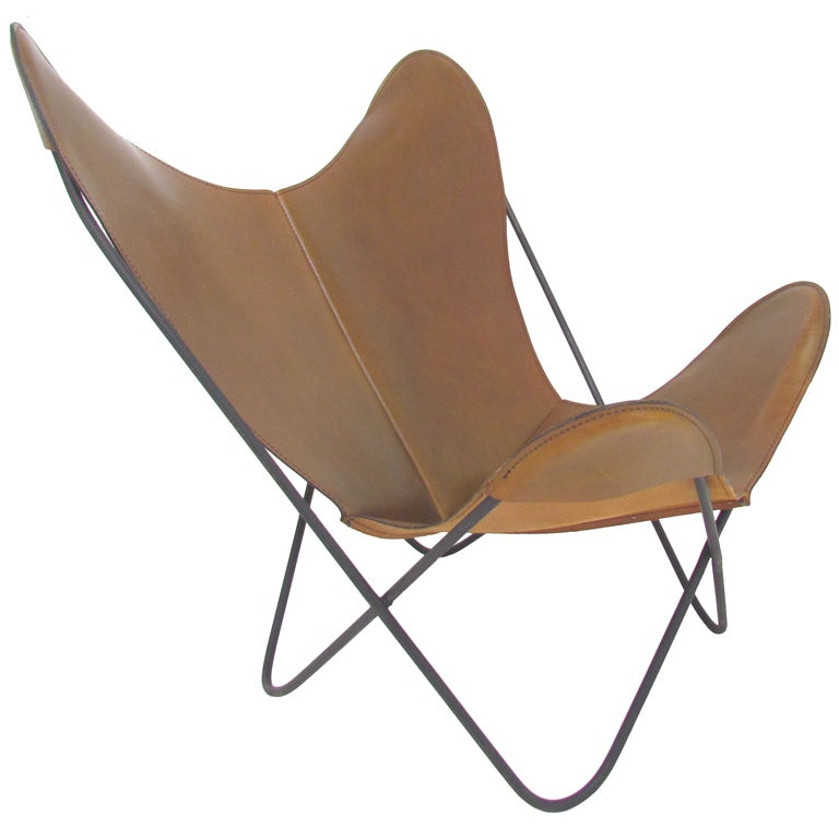 butterfly chair by ferrari hardoy ca 1950s at 1stdibs. Black Bedroom Furniture Sets. Home Design Ideas