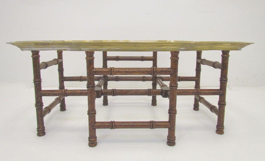 baker furniture hollywood regency coffee table at 1stdibs