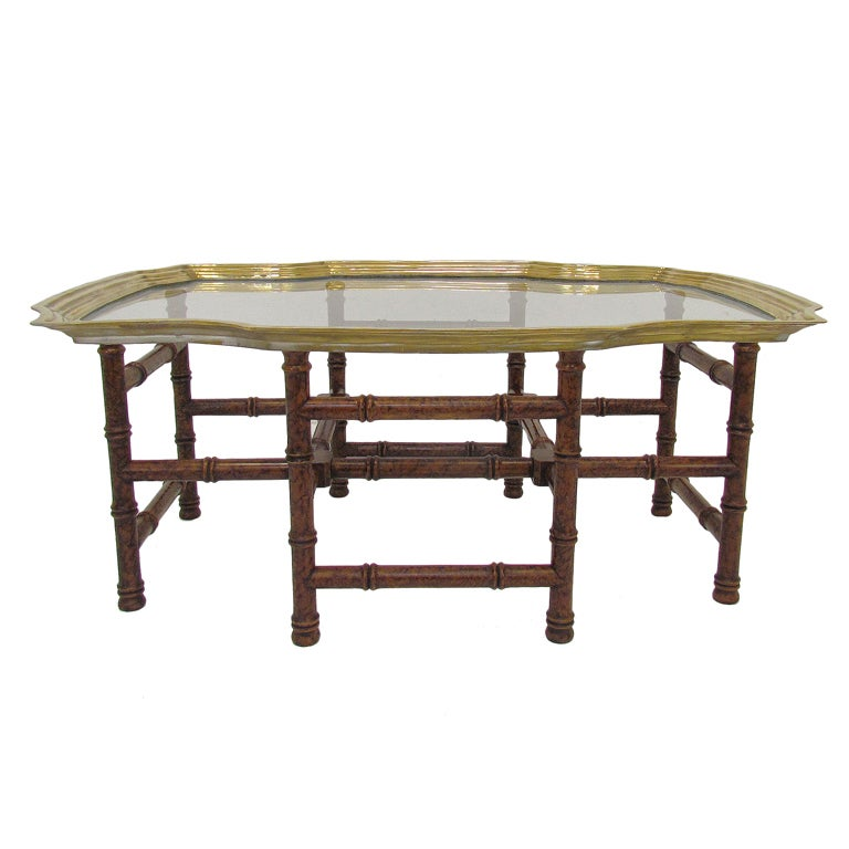 baker furniture regency coffee table