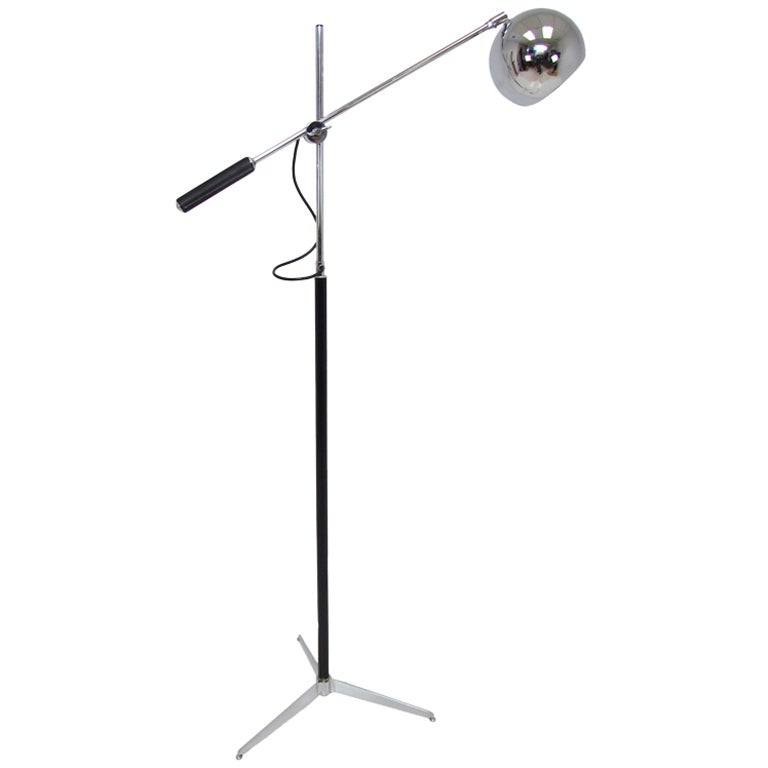 Chrome tripod floor lamp by gino sarfatti for arteluce at for Eden 3 light tripod floor lamp chrome