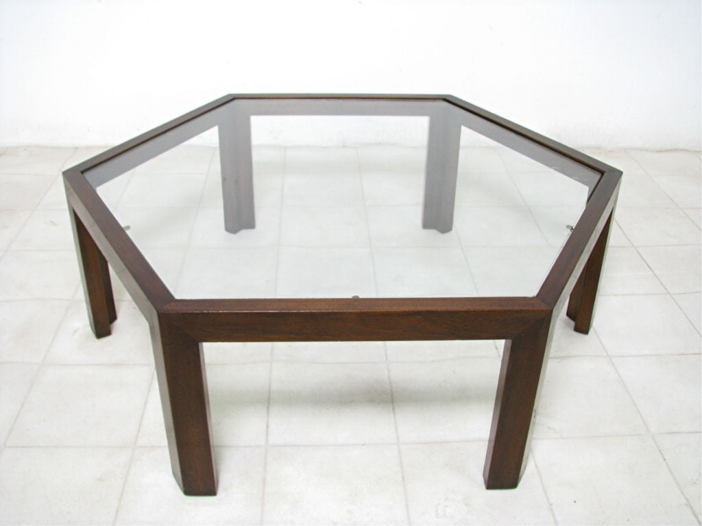 Hexagonal coffee table by harvey probber ca 1960s at 1stdibs for Coffee tables 36 wide