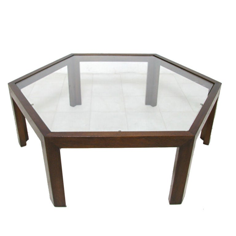 Hexagonal Coffee Table By Harvey Probber Ca 1960s At 1stdibs