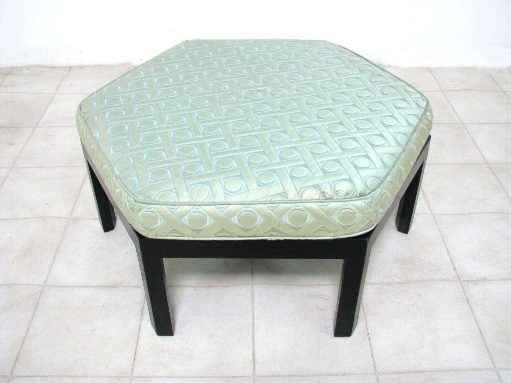 Hexagonal Ottoman Pouf By Harvey Probber Ca 1960s At 1stdibs