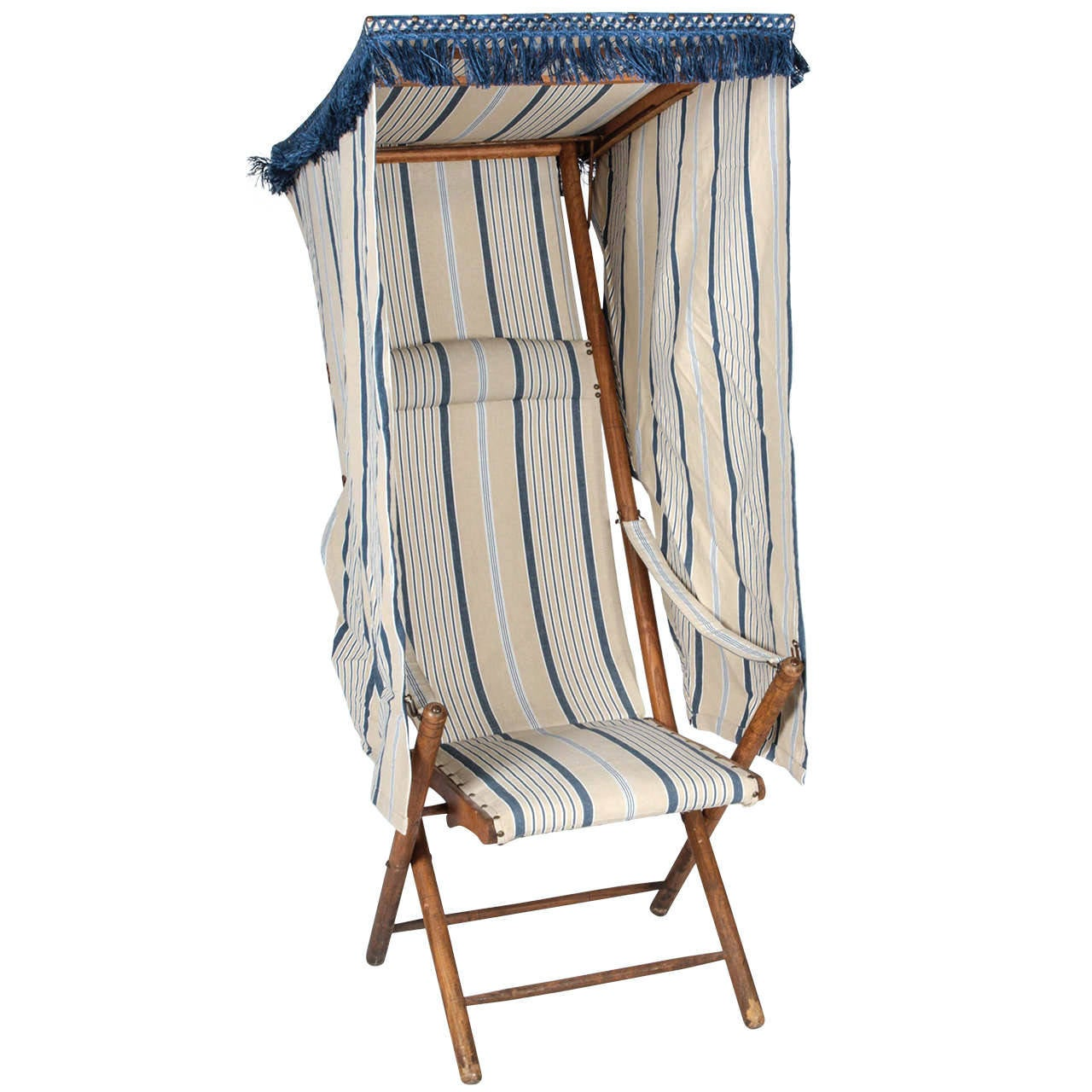 French Beach Chair with Canopy For Sale  sc 1 st  1stDibs : beach chair canopy - memphite.com