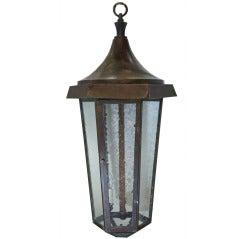 English Hanging Hexagonal Lantern