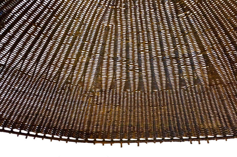Oversized Woven Rattan Hanging Lamp Shade At 1stdibs