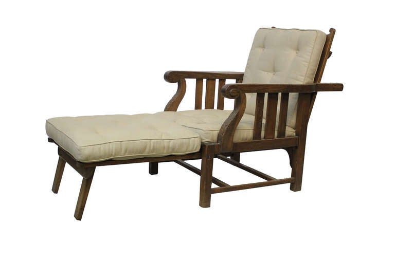 English steamer chaise lounge at 1stdibs - Chaise longue in english ...