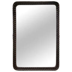Wall Mirror with Bolted Iron Frame