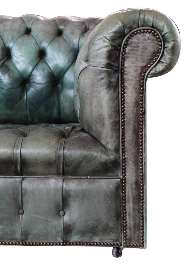 Green Chesterfield Sofa At 1stdibs
