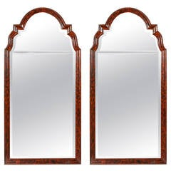 Pair of Queen Anne Style Painted Pier Mirrors