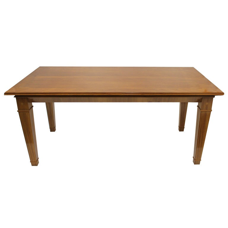 Mission style dining table for sale at 1stdibs for Dining room table styles