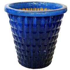 Large Glazed, Blue Planter