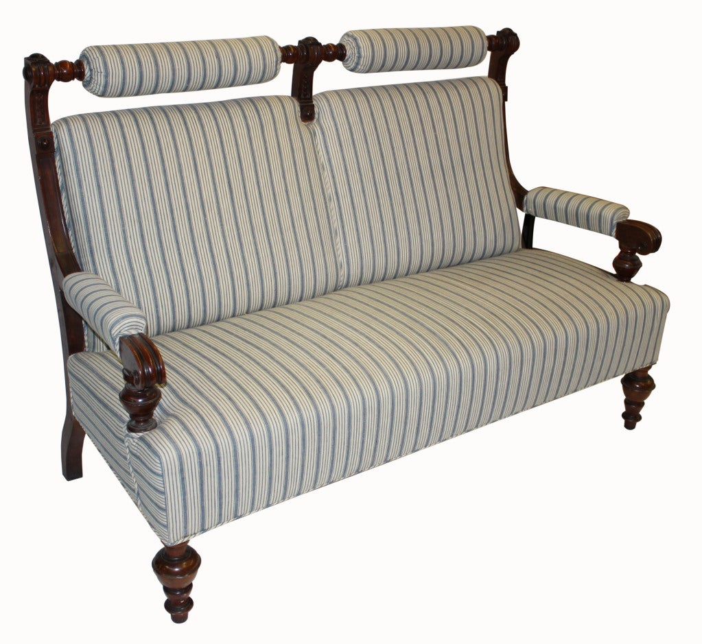 French Victorian Settee For Sale