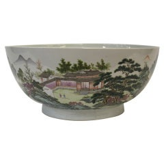 Chinese 'Famille Rose' Enameled Porcelain Bowl