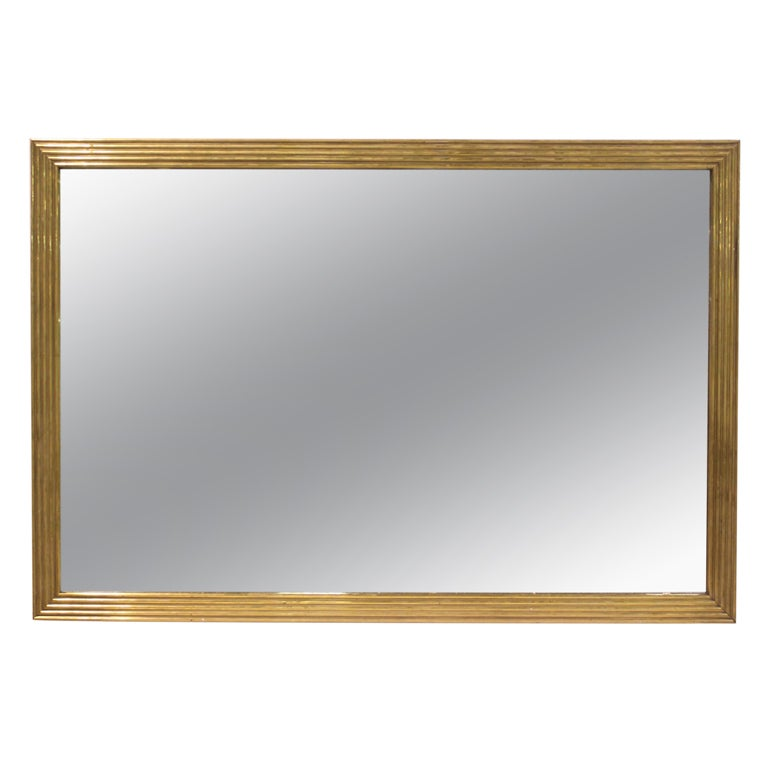 Large brass wall mirror at 1stdibs Large mirror on wall