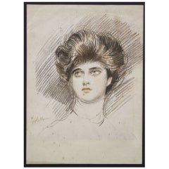 Portrait of Artist's Daughter by Paul César Helleu