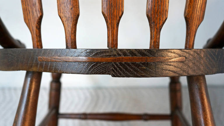 Pressed Oak Chairs ~ Oak pressed back chairs for sale at stdibs