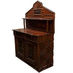 19th Century Wooden Adirondack Side Bar