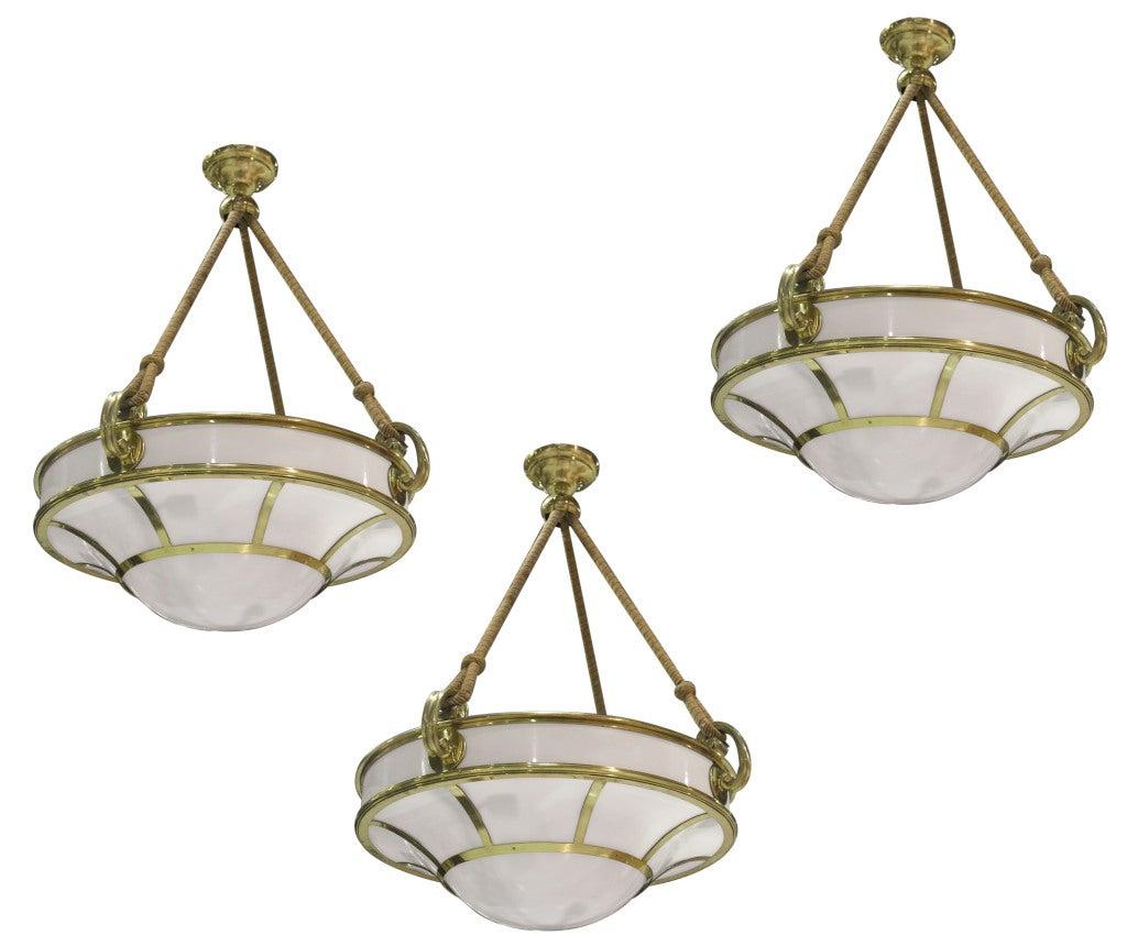 Set Of Three Pendant Lights At 1stdibs