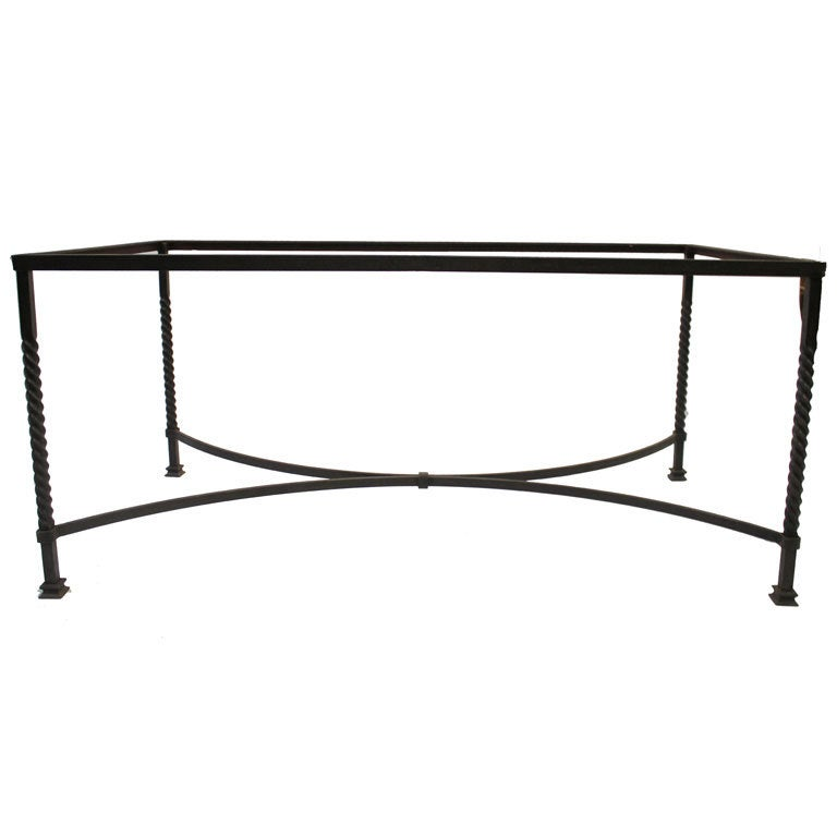Wrought Iron Table Base At 1stdibs