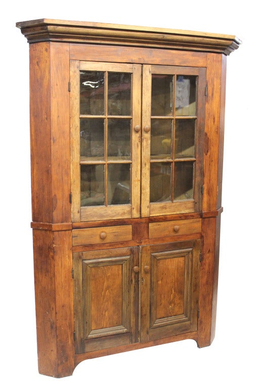 Primitive Corner Cupboard At 1stdibs