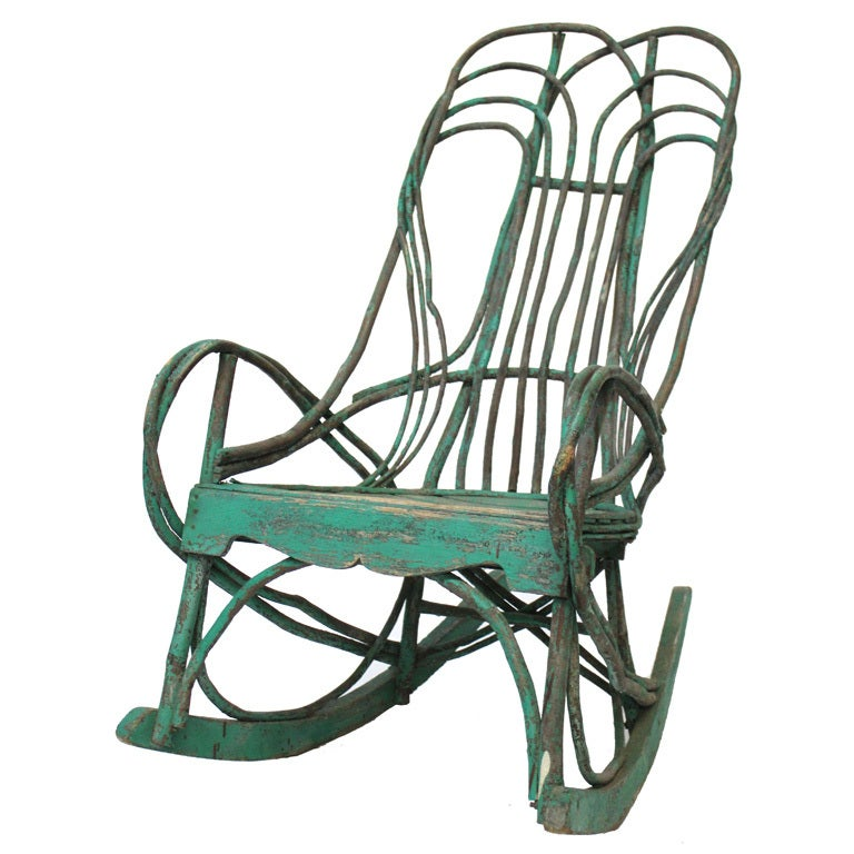 Handcrafted Twig Willow Rocking Chair 1