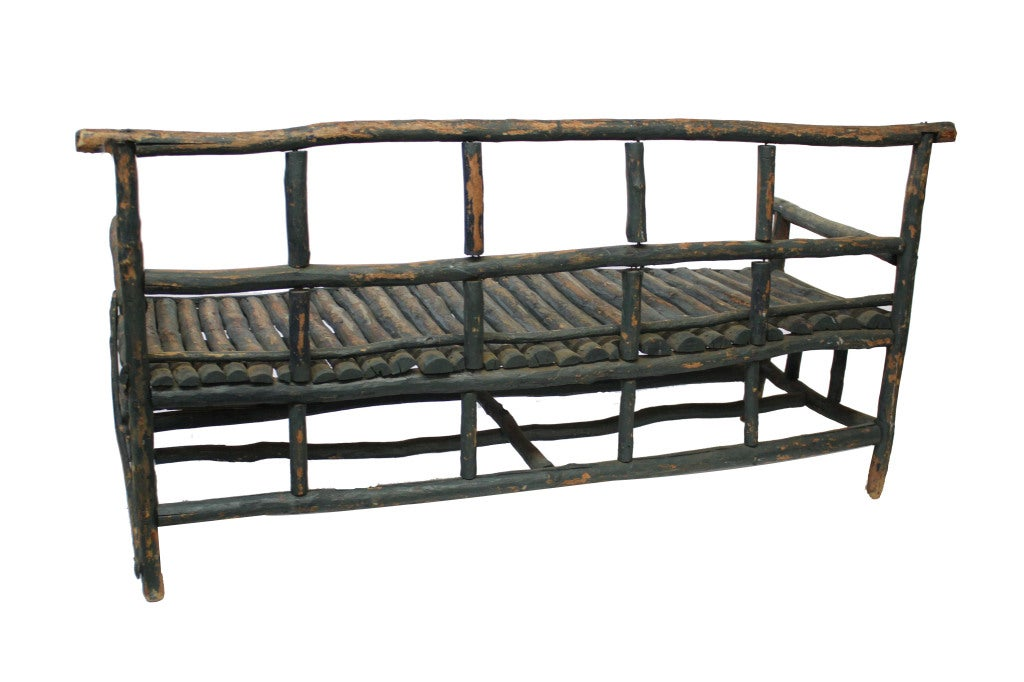 Twig Bench Rustic Twig Bench At 1stdibs