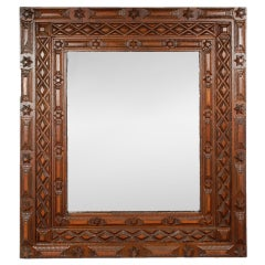 Exceptional Robust Tramp Art Mirror With Stars