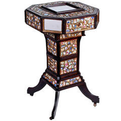 Mosaic Chard Tramp Art Stand with Secret Compartment