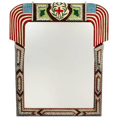 Inspired Patriotic Themed Tramp Art Mirror