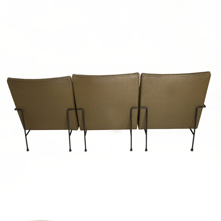 Sectional Sofa Sale Los Angeles: Sectional Iron And Green Faux Leather Milo Baughman Sofa