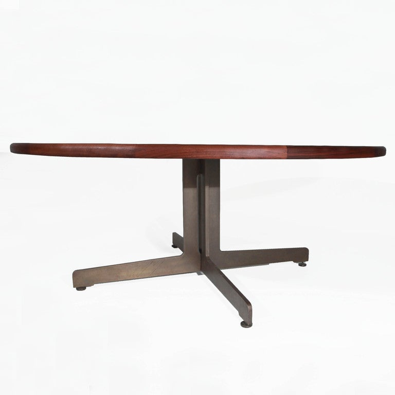 Massive harry lunstead copper and walnut dining table with for Dining table harry styles