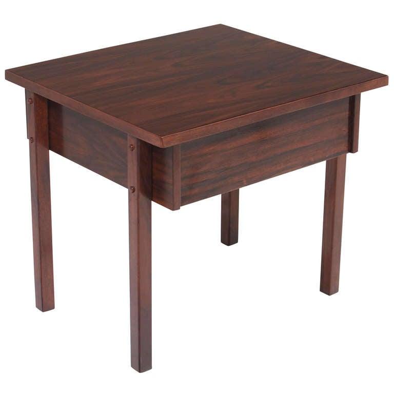 Mid-Century Modern Petite Brazilian Exotic Hardwood Side Table